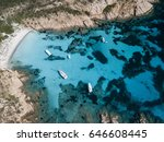 aerial view of a boat in front...   Shutterstock . vector #646608445
