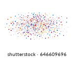 cover from rainbow confetti.... | Shutterstock .eps vector #646609696
