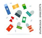 metal waste for trash sorting....   Shutterstock .eps vector #646610476
