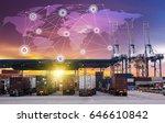 business logistics concept ... | Shutterstock . vector #646610842