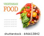 vegetarian food concept. fresh... | Shutterstock . vector #646613842