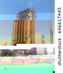 glitch image of an art deco... | Shutterstock . vector #646617445