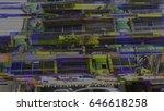 glitch image of a facade | Shutterstock . vector #646618258