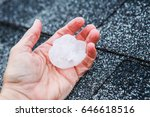 Hail In A Hand After Hailstorm