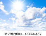 under sun on a sunshine day  | Shutterstock . vector #646621642