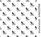 water skiing man pattern... | Shutterstock . vector #646623988