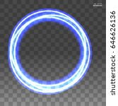 blue neon frame on a...   Shutterstock .eps vector #646626136