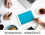 digital device planning... | Shutterstock . vector #646626412