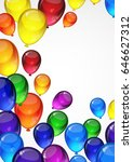 colorful festive balloons on a... | Shutterstock . vector #646627312