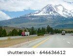 big rigs semi trucks with semi... | Shutterstock . vector #646636612