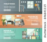 vector set of working... | Shutterstock .eps vector #646641115