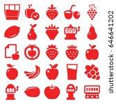 fruit icons set. set of 25... | Shutterstock .eps vector #646641202