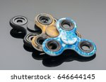 fidget spinner stress relieving ... | Shutterstock . vector #646644145