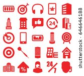 center icons set. set of 25... | Shutterstock .eps vector #646646188
