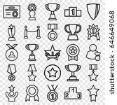 award icons set. set of 25... | Shutterstock .eps vector #646649068