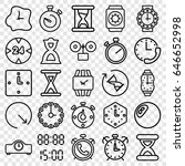 timer icons set. set of 25... | Shutterstock .eps vector #646652998