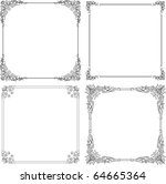 vector decorative frames | Shutterstock .eps vector #64665364