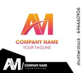 initial logo design am | Shutterstock .eps vector #646660906