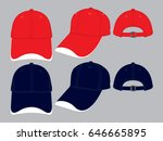 Red And Navy Baseball Cap...