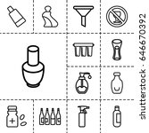 bottle icon. set of 13 outline... | Shutterstock .eps vector #646670392