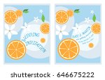 wedding invitation card. orange ... | Shutterstock .eps vector #646675222