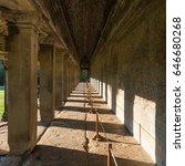 long corridor of angkor wat ... | Shutterstock . vector #646680268