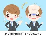 cute cartoon businessman with... | Shutterstock .eps vector #646681942