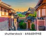 bukchon hanok village in seoul  ...   Shutterstock . vector #646684948