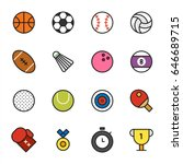 Various Sports Ball Vector...