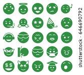 emoji icons set. set of 25...   Shutterstock .eps vector #646690792