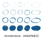 hand drawn circles.set of... | Shutterstock .eps vector #646696822