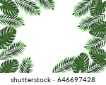 Tropical Jungle Leaves Of...