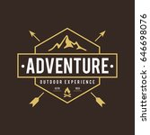 outdoor wilderness  mountain... | Shutterstock .eps vector #646698076