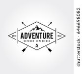 outdoor wilderness  mountain... | Shutterstock .eps vector #646698082