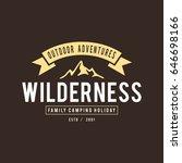 outdoor wilderness  mountain... | Shutterstock .eps vector #646698166