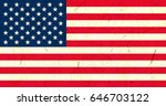 united states of america flag... | Shutterstock . vector #646703122