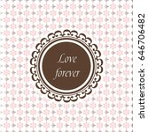 the wedding card with cute... | Shutterstock .eps vector #646706482