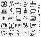 buy icons set. set of 25 buy... | Shutterstock .eps vector #646709236