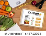 calorie  counting counter... | Shutterstock . vector #646713016