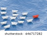 leadership concept  red leader... | Shutterstock . vector #646717282