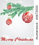 christmas decorate card...   Shutterstock .eps vector #64672033