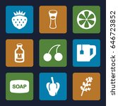 freshness icons set. set of 9... | Shutterstock .eps vector #646723852