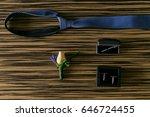 wedding details. groom... | Shutterstock . vector #646724455