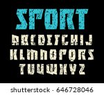 font in sport style. extra bold ... | Shutterstock .eps vector #646728046