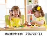 children playing with... | Shutterstock . vector #646738465