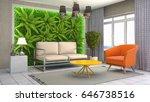 interior living room. 3d... | Shutterstock . vector #646738516