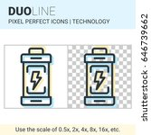 pixel perfect duo line battery... | Shutterstock .eps vector #646739662