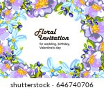romantic invitation. wedding ... | Shutterstock .eps vector #646740706