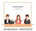 business presentation concept... | Shutterstock .eps vector #646742152