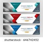 abstract web banner design... | Shutterstock .eps vector #646742452